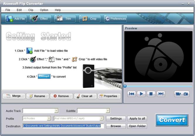 Aiseesoft Flip Converter Screenshot