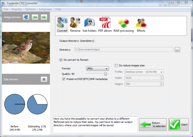 Contenta CR2 Converter Screenshot