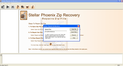 Stellar Phoenix zip Recovery Software Screenshot 1