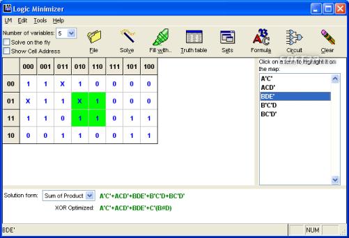 Logic Minimizer Screenshot 3