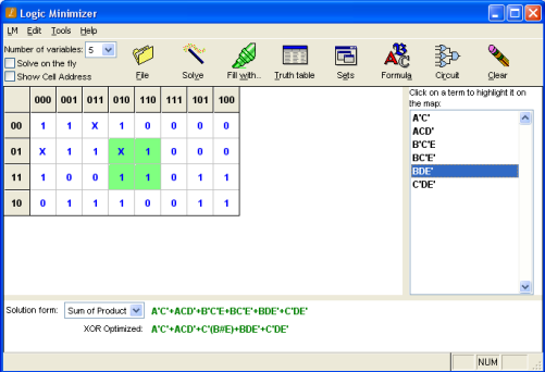Logic Minimizer Screenshot