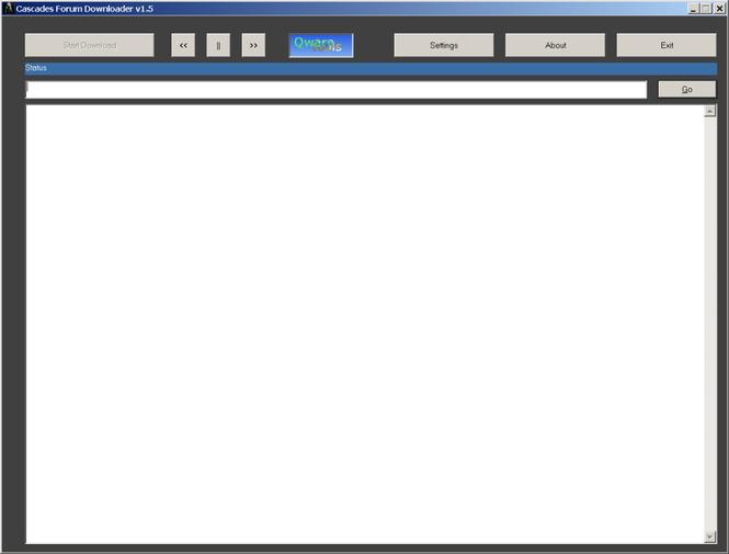 Cascades Forum Downloader Screenshot