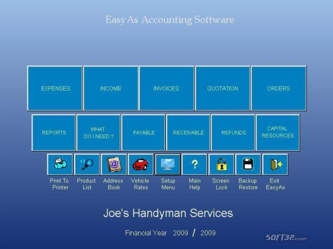 EasyAs Accounting Software Screenshot 2