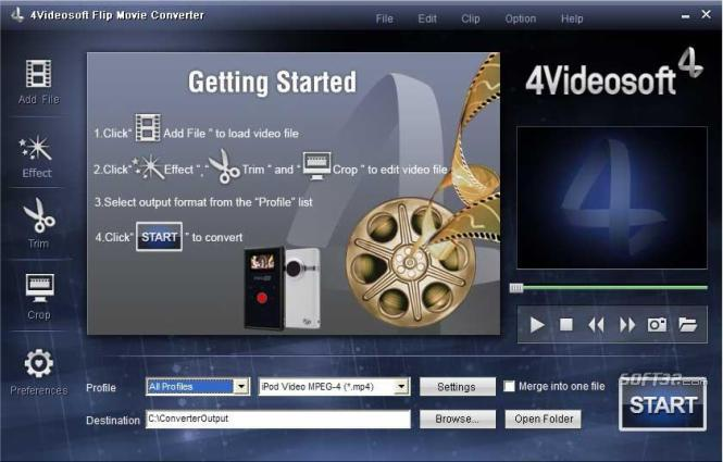 4Videosoft Flip Movie Converter Screenshot 2