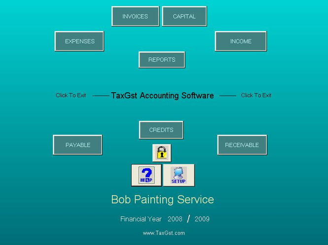 TaxGst Accounting Software Screenshot