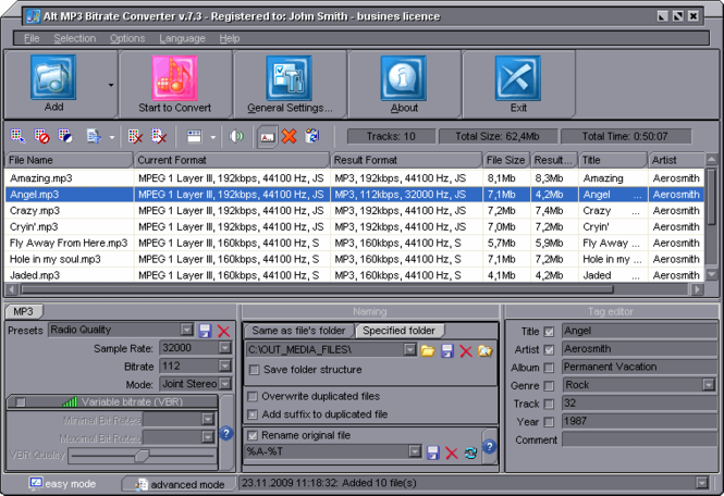 Alt MP3 Bitrate Converter Screenshot