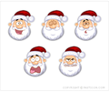 Santa Claus Icons 1