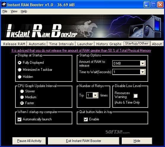 Instant RAM Booster Screenshot 2