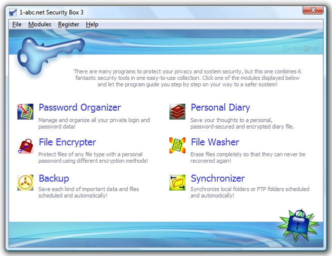1-abc.net Security Box Screenshot 1