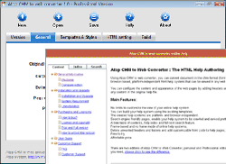Atop CHM to Web Converter Screenshot