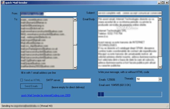 quick Mail Sender Screenshot 2