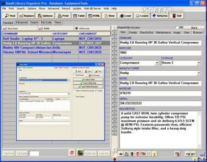 Equipment/Tool Organizer Pro Screenshot 2