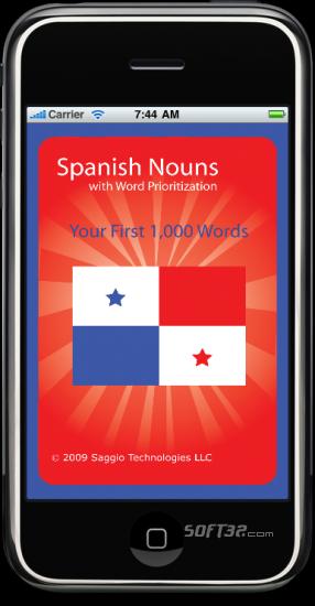 iSaggio Spanish Flashcards 1,000 Nouns Screenshot 2