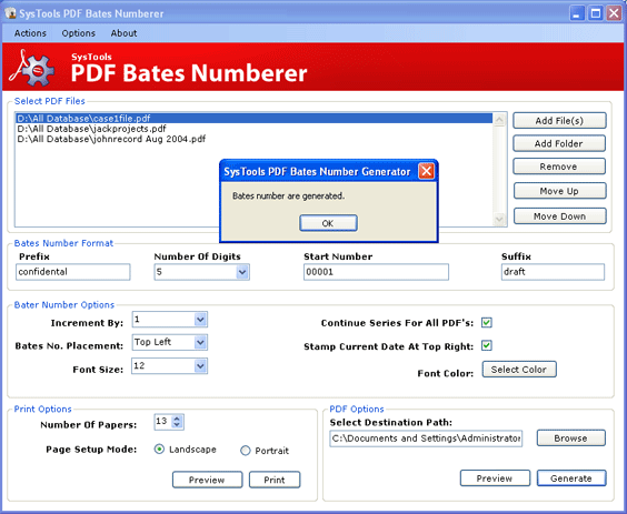 PDF Stamp Tool Screenshot