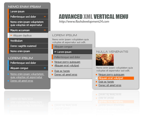 Advanced Vertical Menu by FD24 Screenshot