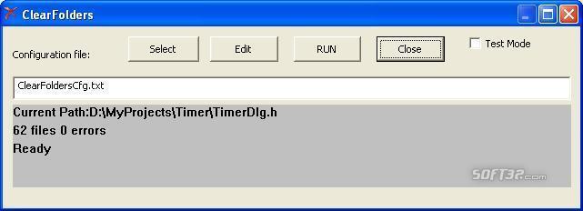 ClearFolders Screenshot 2