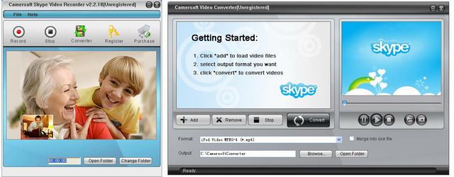 Camersoft Skype Video Recorder Screenshot