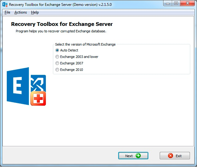 Recovery Toolbox for Exchange Server Screenshot 3