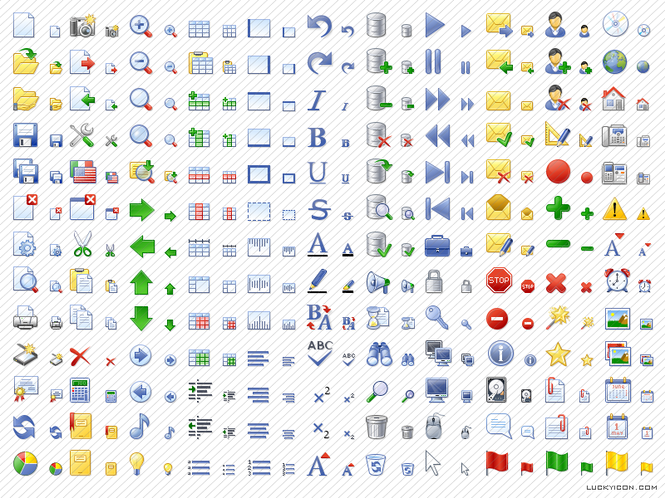 Office Style Icon Set Screenshot