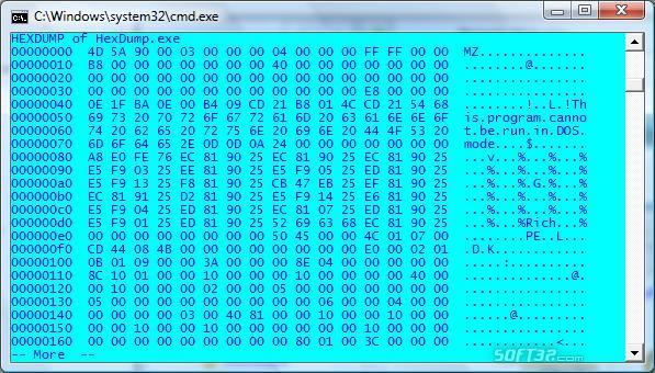HexDump Screenshot 3