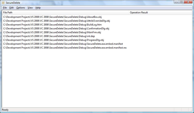 SecureDelete Screenshot 1