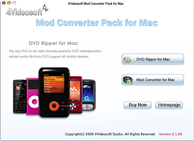 4Videosoft Mod Converter Pack for Mac Screenshot