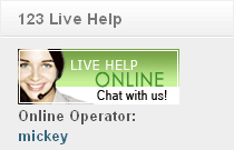 123 Live Help Free Joomla Module Screenshot