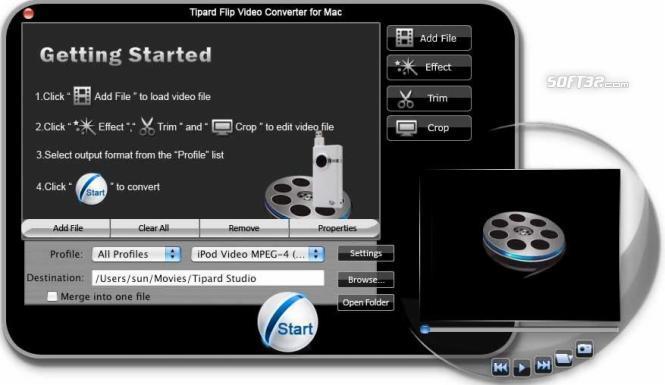 Tipard Flip Video Converter for Mac Screenshot 3