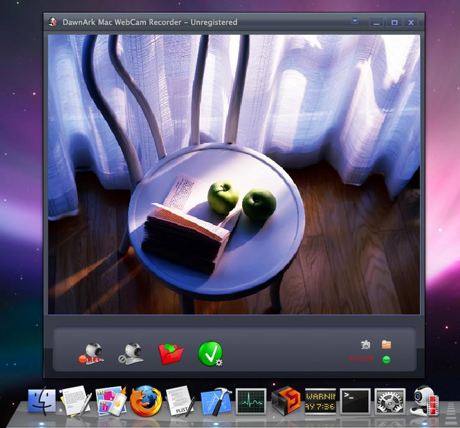 DawnArk Mac WebCam Recorder Screenshot