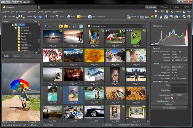 Zoner Photo Studio Screenshot 1