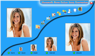 Abonsoft True Color Icon Converter Screenshot