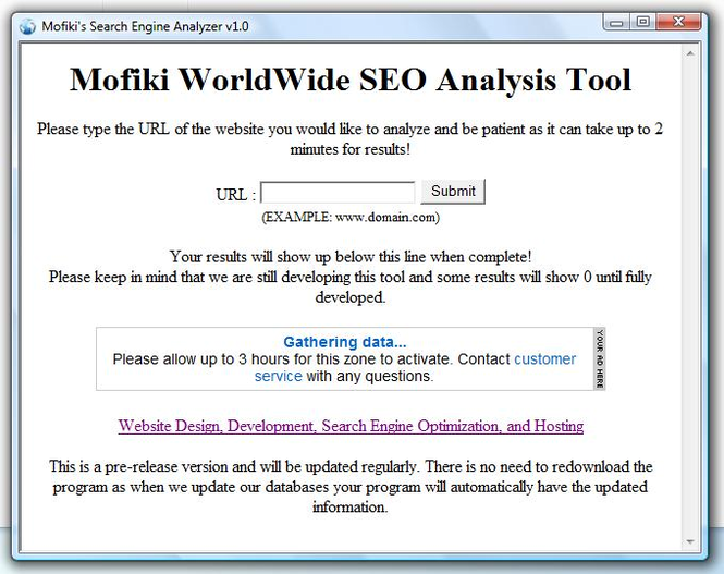 Mofiki's SEO Analyzer Screenshot