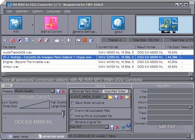 Alt WAV to OGG Converter Screenshot 2