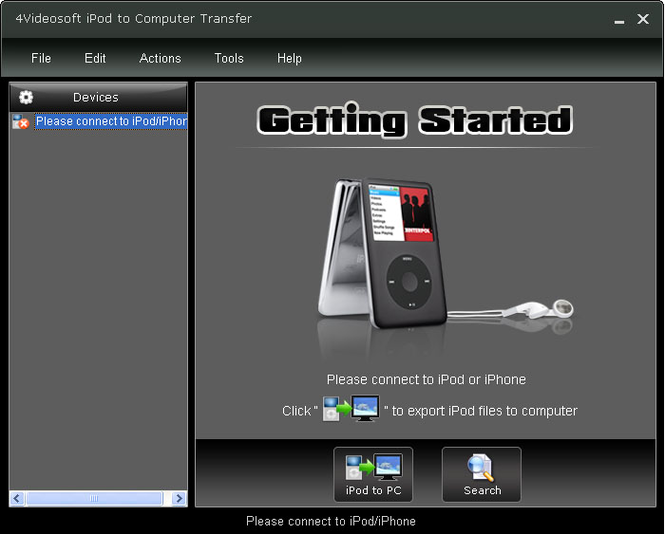 4Videosoft iPod to Computer Transfer Screenshot