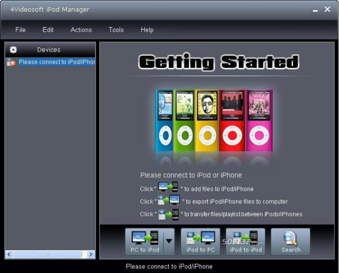 4Videosoft iPod Manager Screenshot 3