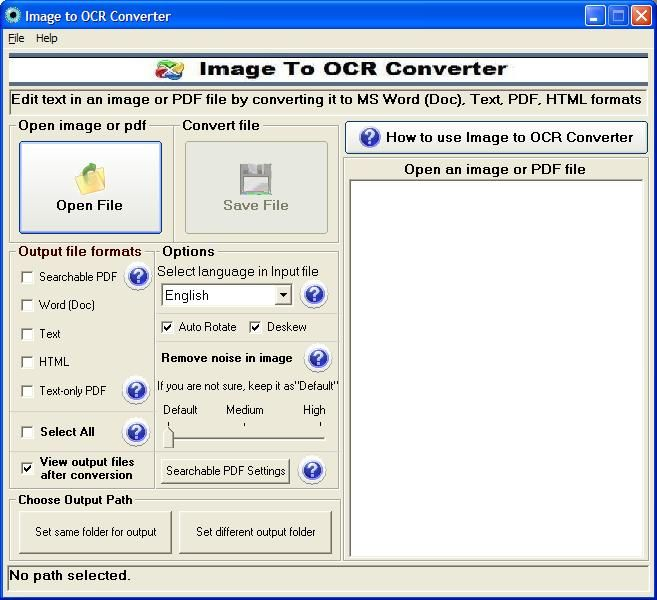 Image to OCR Converter Screenshot