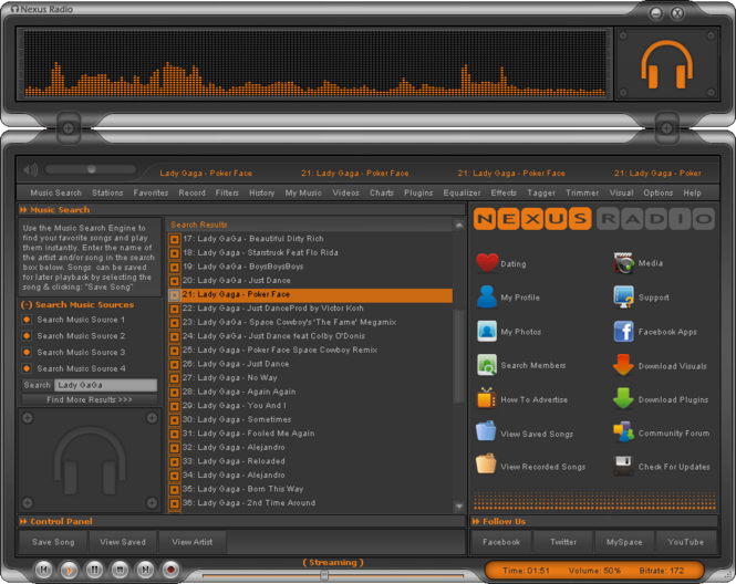 Nexus Radio Screenshot