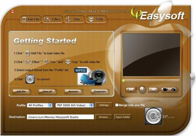 4Easysoft Mac Mod to MPEG Converter Screenshot 3