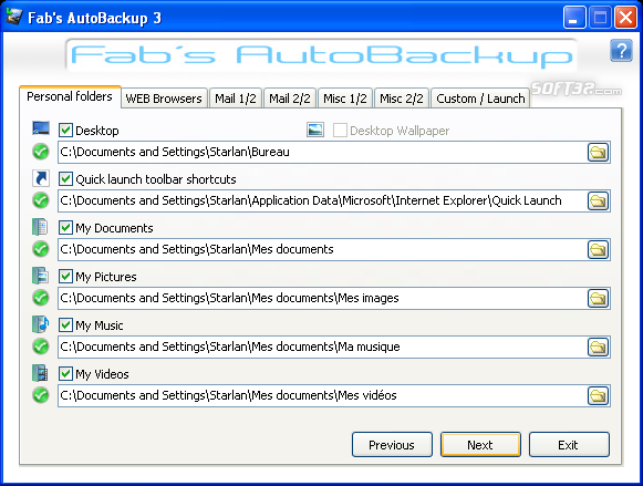 Fab's AutoBackup 3 Screenshot