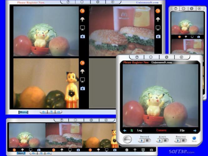 Unisonosoft.com Mini Webcam Robot Auto Email Special Screenshot 2