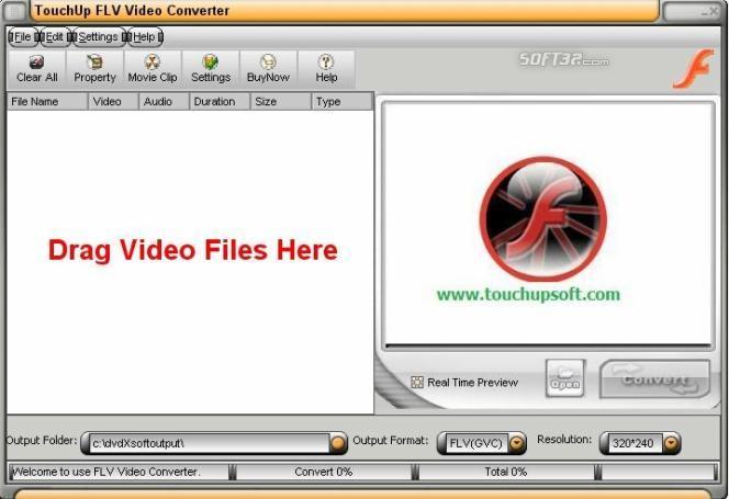 TouchUpSoft FLV Video Converter Screenshot 3