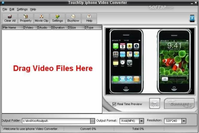 TouchUpSoft iphone Video Converter Screenshot 3