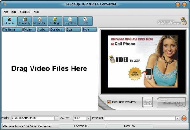TouchUpSoft 3GP Video Converter Screenshot 3