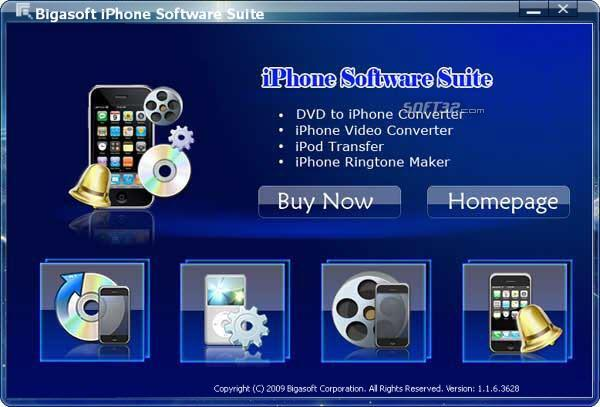 Bigasoft iPhone Software Suite Screenshot 3