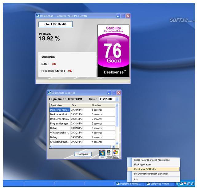 Desksense Monitor Screenshot 3