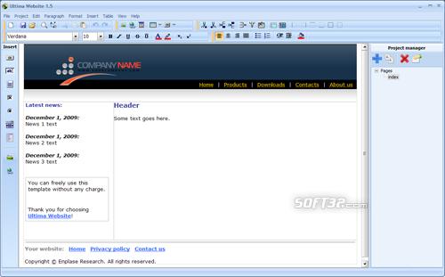 Ultima Website Screenshot 3