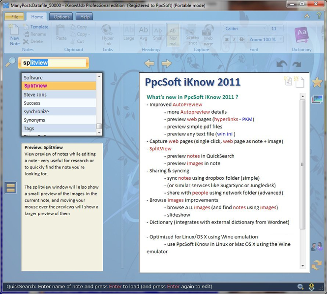 PpcSoft iKnow Lite Screenshot 1