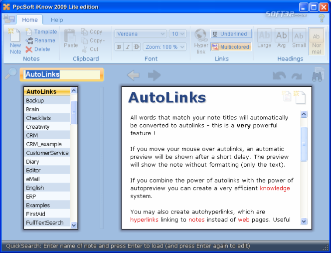 PpcSoft iKnow Lite Screenshot 2