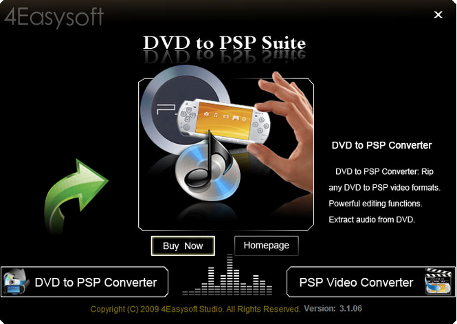 4Easysoft DVD to PSP Suite Screenshot 1
