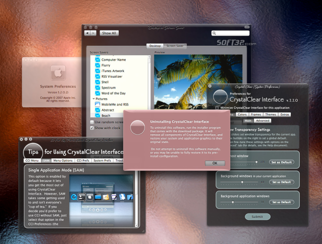 CrystalClear Interface Screenshot 2